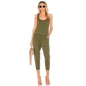 Bobi Revolve Supreme Jersey Cotton Jumpsuit Green